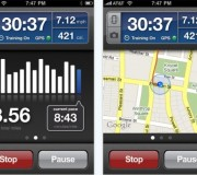 RunKeeper Pro iPhone Interface