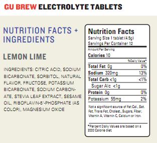 Holy GU Brew Electrolyte Tablets