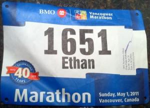 Bib Number Vancouver Marathon