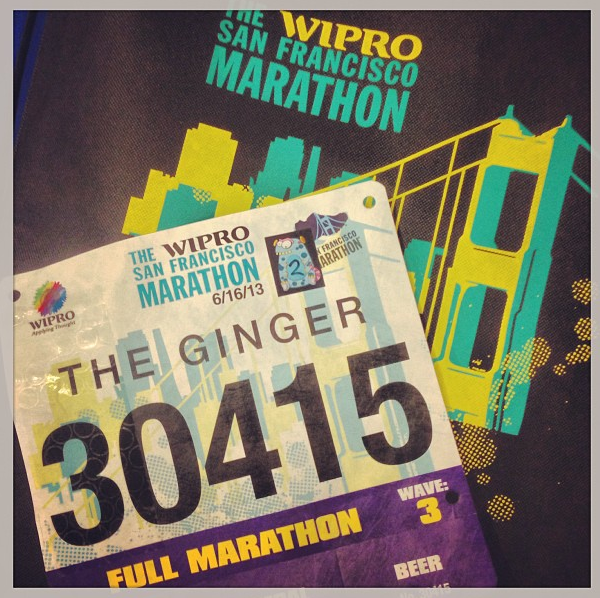 My 2013 SF Marathon BIB!