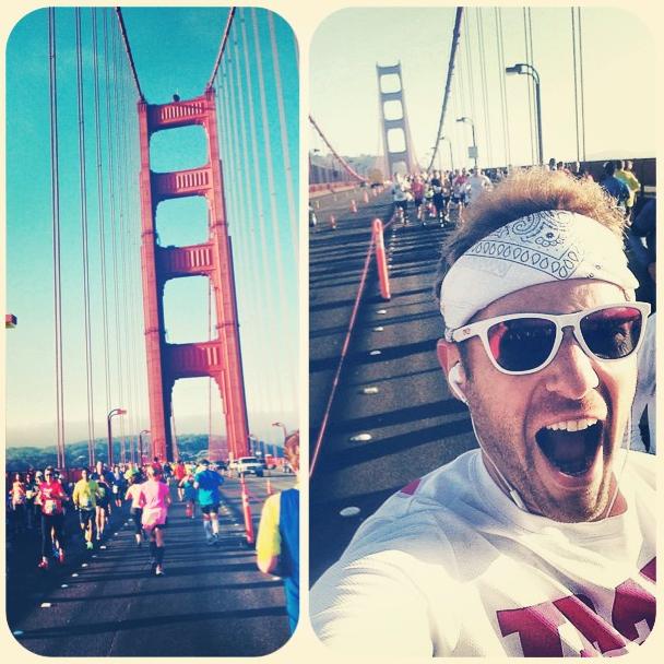 I RAN OVER A BRIDGE!